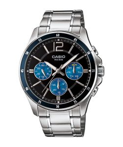 Casio Enticer Analog Black Dial Men's Watch - MTP-1374D-2AVDF (A950)