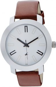 Fastrack Casual Analog White Dial Men's Watch -NK3120SL01