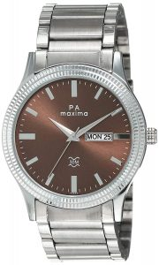 Maxima Analog Brown Dial Men's Watch-47330CAGI