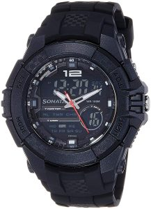 Sonata Ocean Series III Chronograph Multi-Color Dial Unisex Watch -NK77027PP01